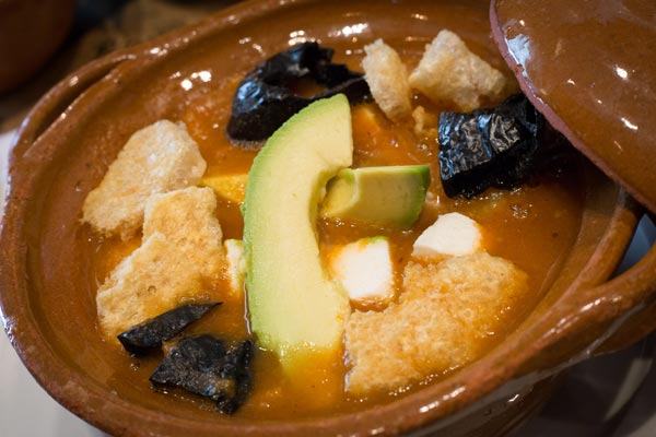 Restaurante Los Panchos sopa de tortilla