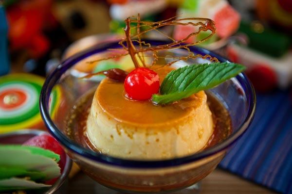 Restaurante Los Panchos flan de la casa