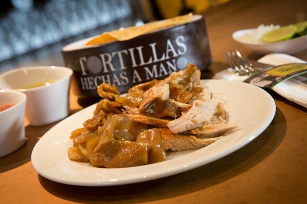 Restaurante Los Panchos orden de carnitas