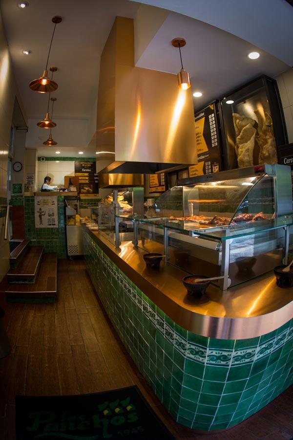 Restaurant Los Panchos México sucursal matriz anzures barra alimentos