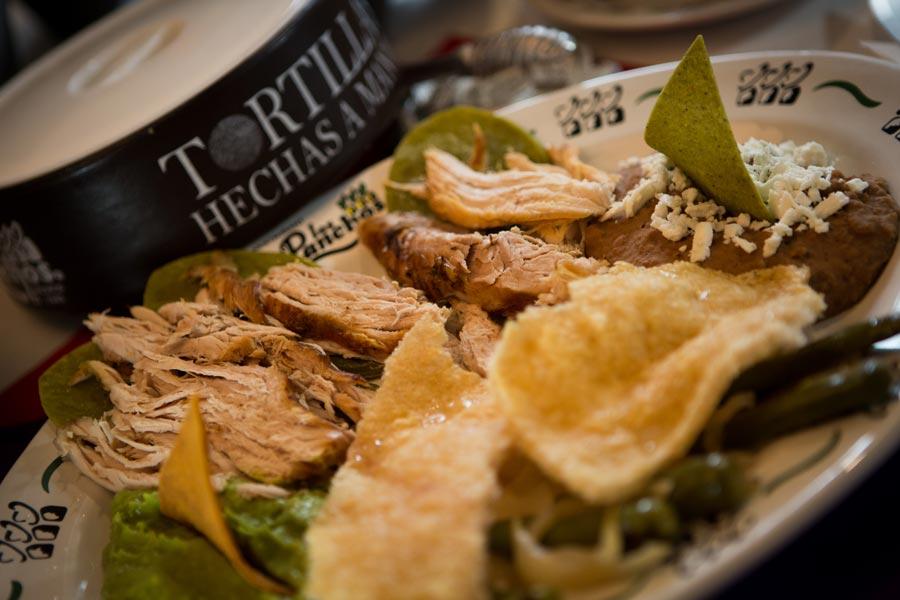 Restaurant Los Panchos México sucursal matriz anzures plato ranchero