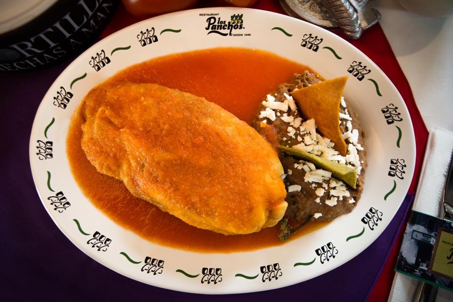 Restaurant Los Panchos México sucursal matriz anzures chile relleno