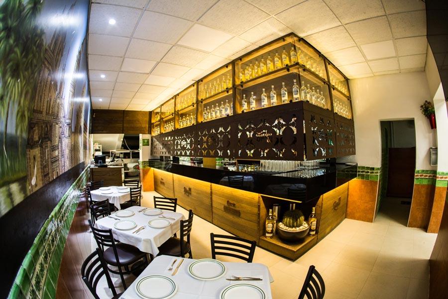 Restaurant Los Panchos México sucursal matriz anzures barra