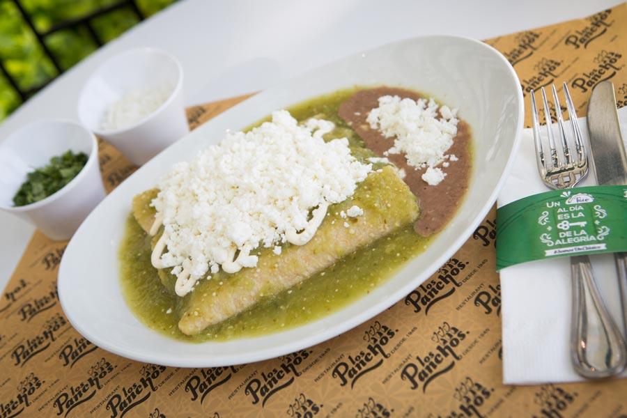 Restaurant Los Panchos México sucursal polanco enchiladas verdes