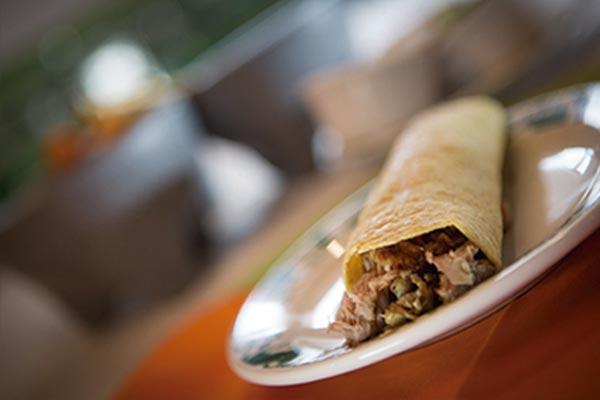 Restaurante Los Panchos taco de carnitas