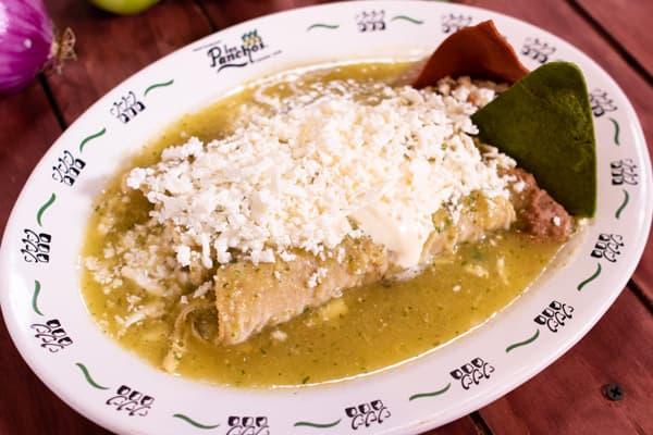 enchiladas verdes los panchos